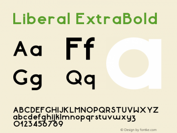 Liberal-ExtraBold Version 1.000 | wf-rip DC20180130图片样张