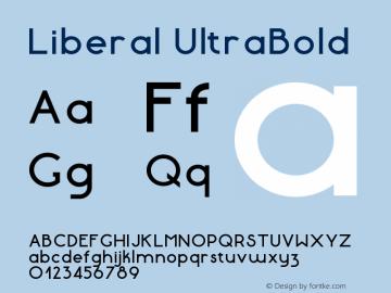 Liberal-UltraBold Version 1.000 | wf-rip DC20180130图片样张