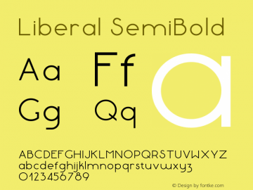 Liberal-SemiBold Version 1.000 | wf-rip DC20180130图片样张