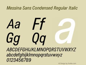 MessinaSans-CondensedRegularIt Version 16.000图片样张