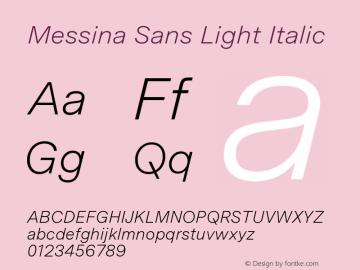 MessinaSans-LightItalic Version 23.000图片样张