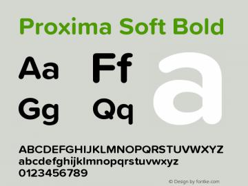 ProximaSoft-Bold Version 1.005 | w-rip DC20181225图片样张