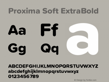 ProximaSoft-ExtraBold Version 1.005 | w-rip DC20181225图片样张