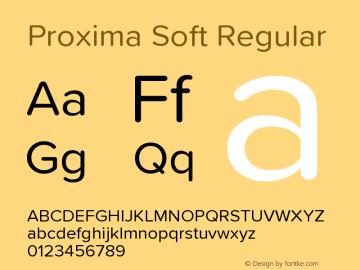 ProximaSoft-Regular Version 1.005 | w-rip DC20181225图片样张