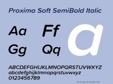 ProximaSoft-SemiBoldIt Version 1.005 | w-rip DC20181225图片样张