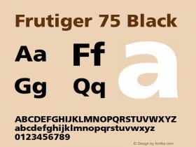 Frutiger-Black 001.002图片样张