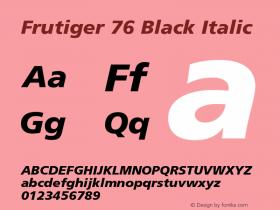 Frutiger-BlackItalic 001.002图片样张