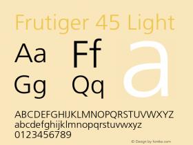 Frutiger-Light 001.002图片样张