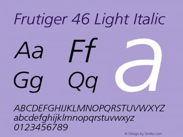 Frutiger-LightItalic 001.002图片样张