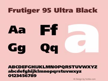 Frutiger-UltraBlack 001.002图片样张
