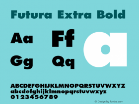 Futura-ExtraBold 001.002图片样张