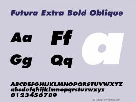 Futura-ExtraBoldOblique 001.002图片样张
