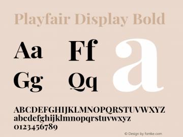 Playfair Display Bold Version 1.200; ttfautohint (v1.8.2)图片样张