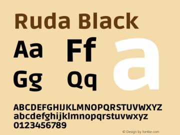 Ruda Black Version 2.000图片样张