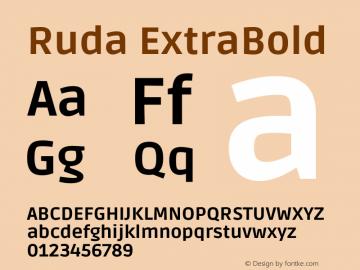 Ruda ExtraBold Version 2.000图片样张