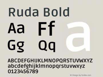 Ruda Bold Version 2.000图片样张