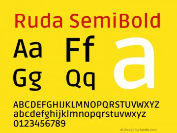 Ruda SemiBold Version 2.000图片样张