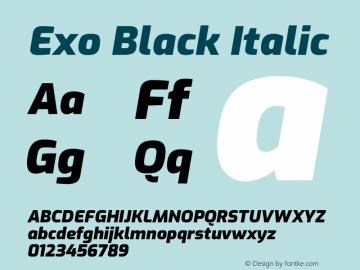 Exo Black Italic Version 2.000图片样张