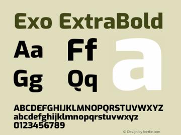 Exo ExtraBold Version 2.000图片样张