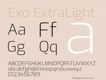 Exo ExtraLight Version 2.000图片样张