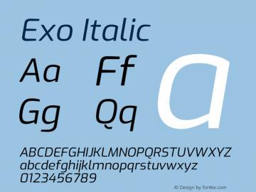 Exo Italic Version 2.000图片样张