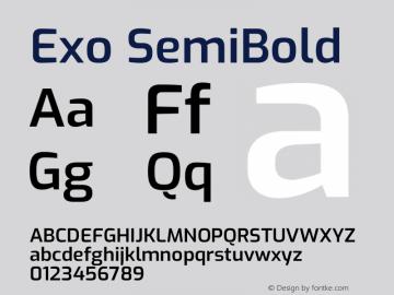 Exo SemiBold Version 2.000图片样张