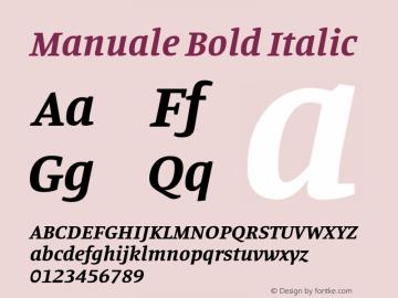 Manuale Bold Italic Version 1.000; ttfautohint (v1.8.1.43-b0c9)图片样张