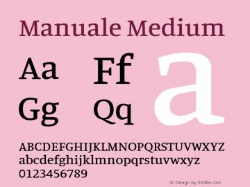 Manuale Medium Version 1.000; ttfautohint (v1.8.1.43-b0c9)图片样张