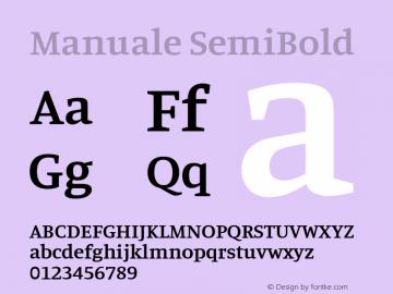 Manuale SemiBold Version 1.000; ttfautohint (v1.8.1.43-b0c9)图片样张