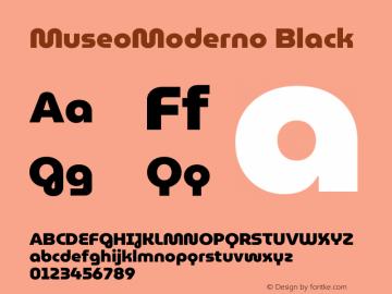 MuseoModerno Black Version 1.001 Font Sample