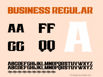 Business Version 1.00;June 9, 2020;FontCreator 12.0.0.2547 64-bit图片样张