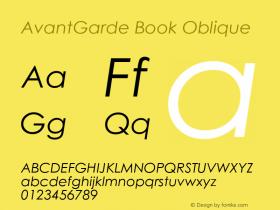 AvantGarde Book Oblique 17: 23752图片样张