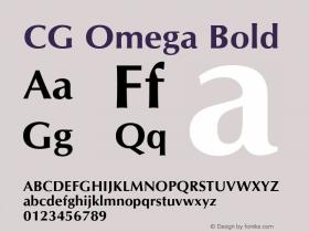 CG Omega Bold Version 2.02图片样张