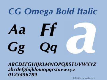 CG Omega Bold Italic Version 2.02图片样张