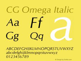 CG Omega Italic Version 2.02图片样张