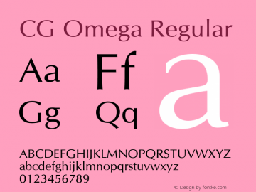 CG Omega Version 2.02图片样张