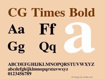 CG Times Bold Version 2.02图片样张