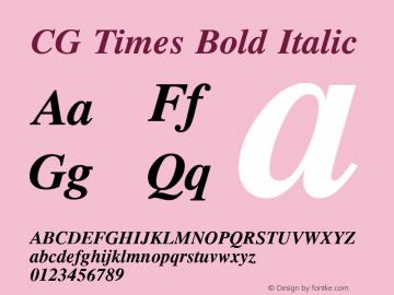 CG Times Bold Italic Version 2.02图片样张