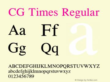 CG Times Version 2.02图片样张