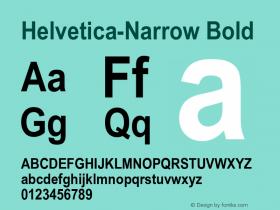 Helvetica-Narrow Bold 17: 23728图片样张