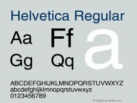 Helvetica Version 2.02图片样张