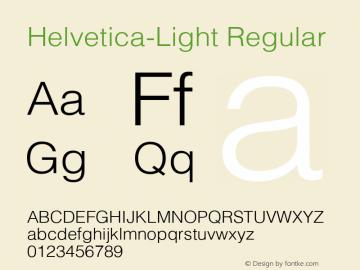 Helvetica-Light Version 2.02图片样张