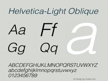 Helvetica-Light Oblique Version 2.02图片样张