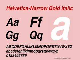 Helvetica-Narrow Bold Italic 19: 13729图片样张