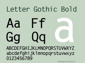 Letter Gothic Bold Version 2.02图片样张