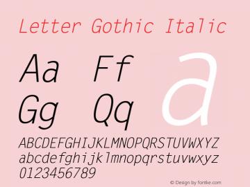 Letter Gothic Italic Version 2.02图片样张