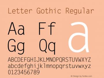 Letter Gothic Version 2.02图片样张