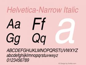 Helvetica-Narrow Italic 19: 13727图片样张