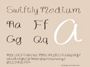 Swiftly Medium Version 001.000 Font Sample