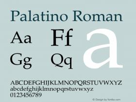 Palatino Roman Version 2.02图片样张